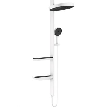 Душевая система, Hansgrohe Rainfinity Showerpipe 360 1jet, Matt White (26842700)