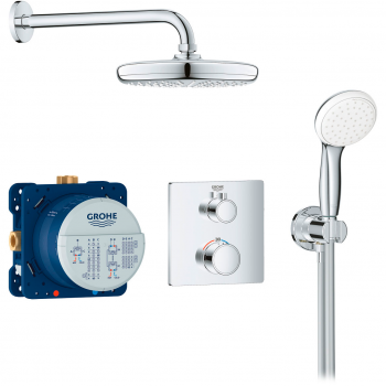 Комплект для душа Grohe Grohtherm Thermostatic с Tempesta 210 (34729000)