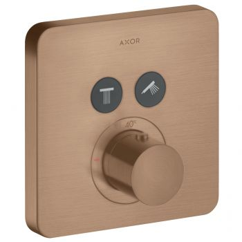 Термостат Axor ShowerSelect Highflow на 2 потребителя, brushed red gold (36707310)