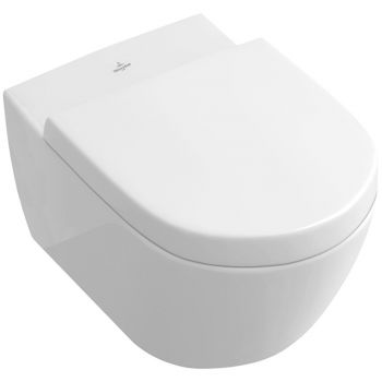 Унитаз подвесной Villeroy & Boch Subway 2.0  Open Flushing Rim Ceramic+ (5614R0R1)