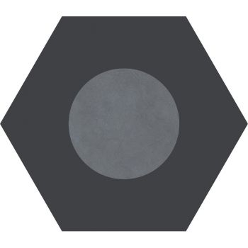 Керамогранит Ornamenta Corebasics Dot-Negative Grey Hexagon 60 (CB60DNG)