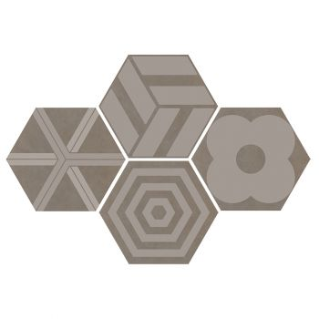 Керамогранит Ornamenta Corebasics Patchwork Ashgrey Hexagon 60 (CB60PATCHA)