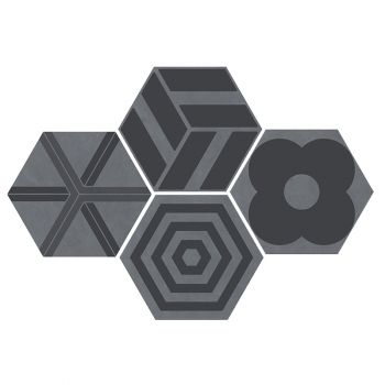 Керамогранит Ornamenta Corebasics Patchwork Grey Hexagon 60 (CB60PATCHG)