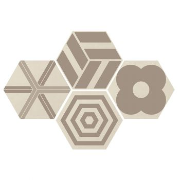 Керамогранит Ornamenta Corebasics Patchwork Ivory Hexagon 60 (CB60PATCHI)