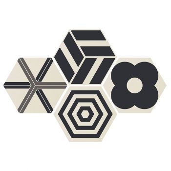 Керамогранит Ornamenta Corebasics Patchwork White Hexagon 60 (CB60PATCHW)