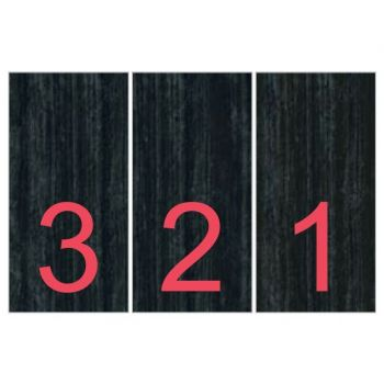 Керамогранит Fiandre Design your slabs Countdown Red Composizione Visions, 3 шт 300x150 Luc 6 мм (Y4V700D453006)